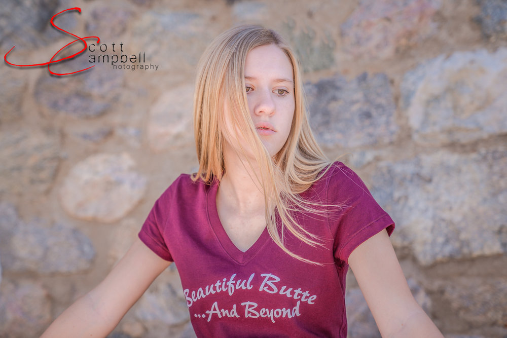 Beautiful Butte and Beyond Tee modeled by Krista