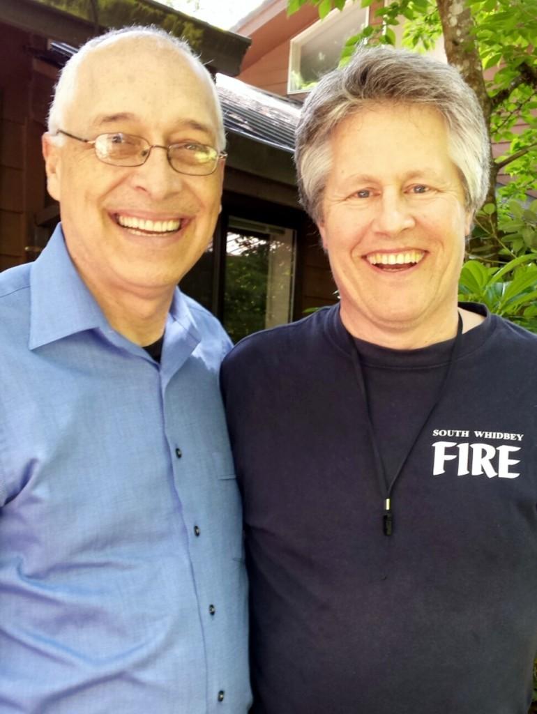 Dr. David Berceli and Leckey in Damascus, Oregon.