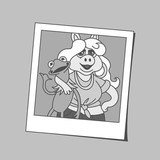 Couple goals 🐸🐷 . . . . . #muppets #animals #frog #animal #animalsofinstagram #petsofinstagram #themuppets #pig #piggy #misspiggy #jimhenson #couple #love #girlfriend #boyfriend #me #iamzacs #couplegoals #lovegoals #arte #art #drawing #draw #create #creative #design