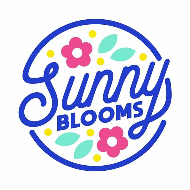 Fast and fab logo fun for @bettsiann for her new floral arrangement brand, @sunnyblooms.au 💐 . . . .  Wasn't sure what I felt like doing last night so this was a fun one to put together, thanks Beth! .  #flowers #logo #branding #type #instalove #iamzacs #design #designer #nature #brand #flower #sunnyblooms #bloom