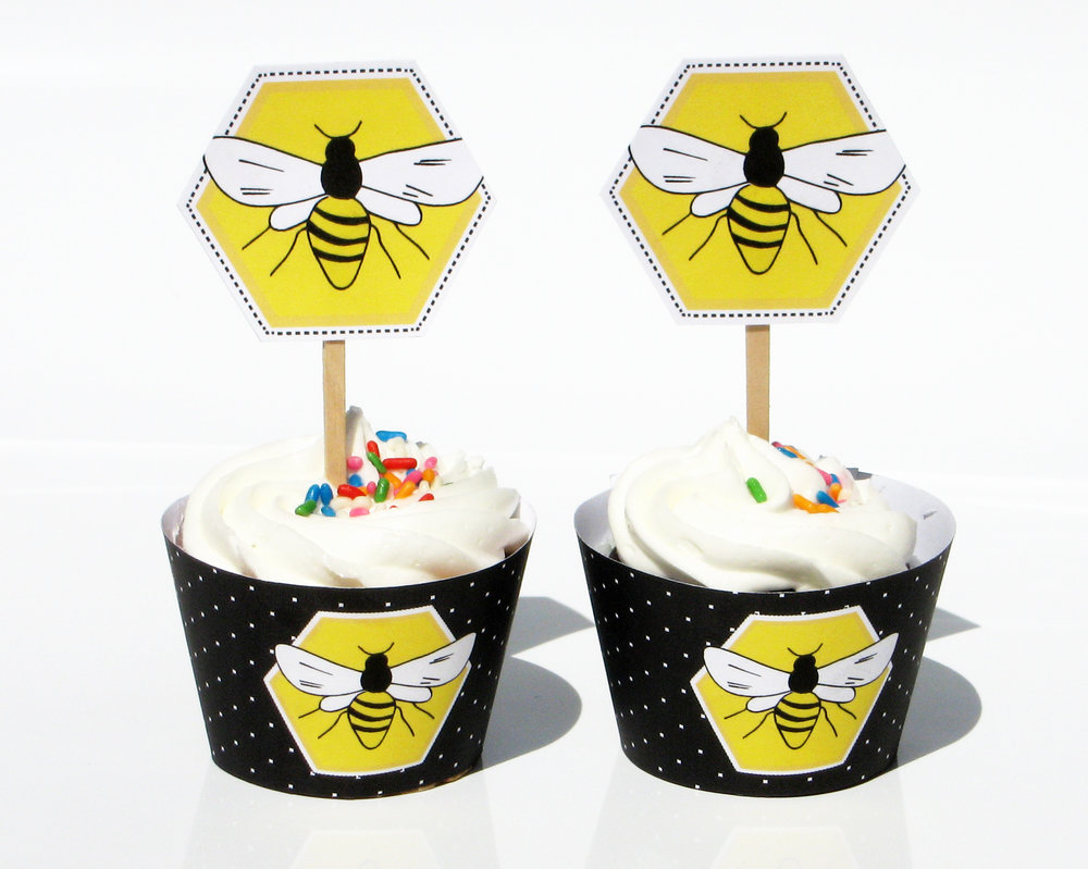 Mama to Bee- Cupcake Toppers and Rings 8 x 10.jpg