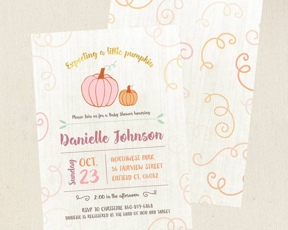 Little-Pumpkin-card-front-and-back-on-linen-background.2jpg
