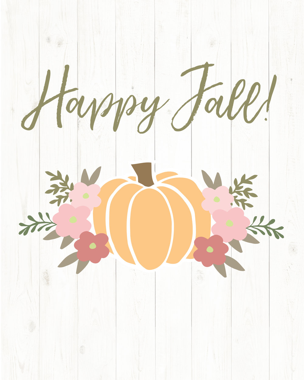 Free Happy Fall Printable