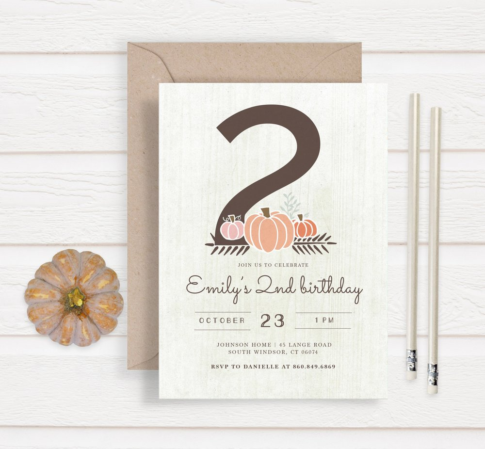 girl little pumpkin mock up invitation2.jpg