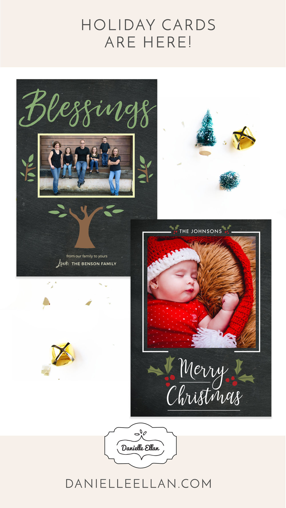 Holiday cards by Danielle Ellan