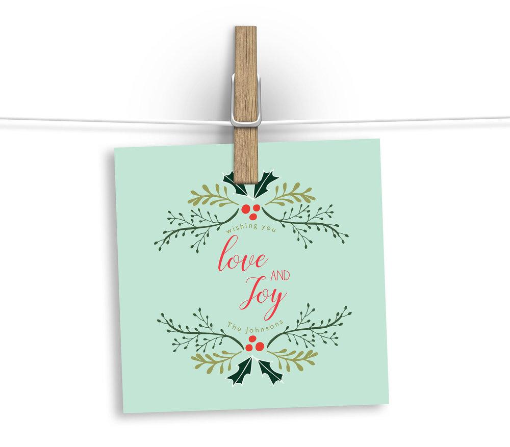 Love and Joy design by Danielle Ellan