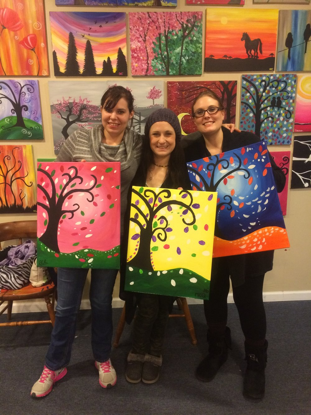 Paint Social I taught at Camp Simon Art Center