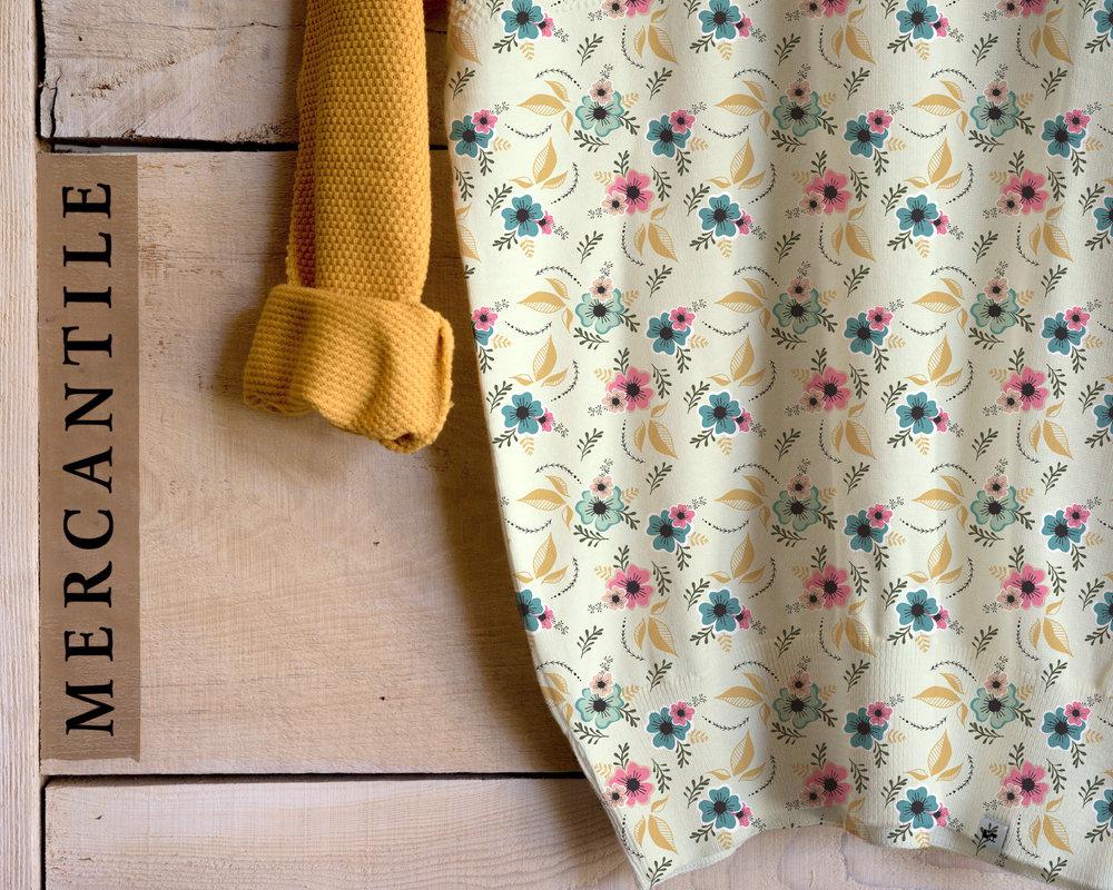 Vintage Hibiscus Pattern