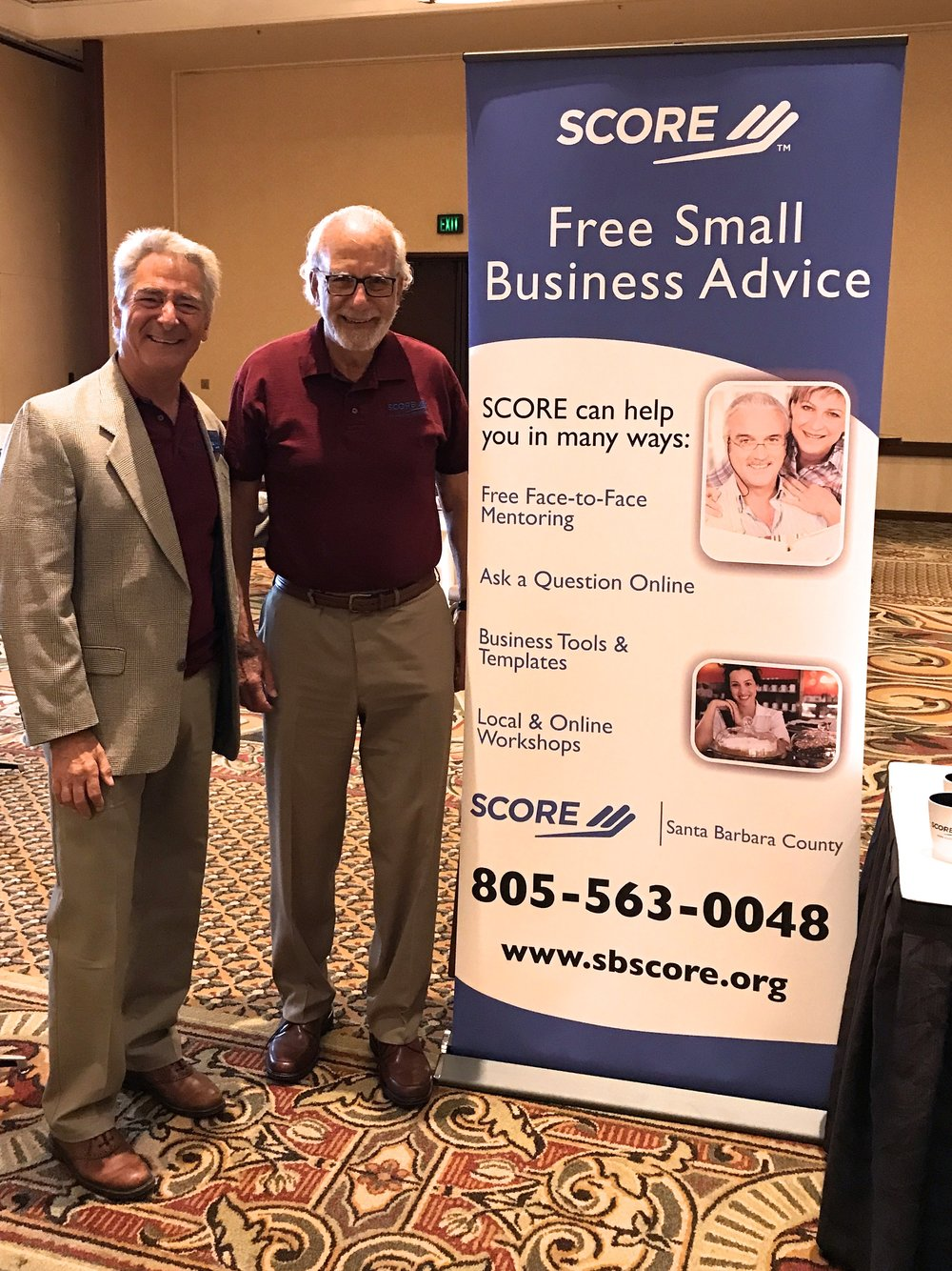 SCORE Santa Barbara Bob Vitamante with Gene Sinser Team of SCORE advisors provided free consultations for this conference.