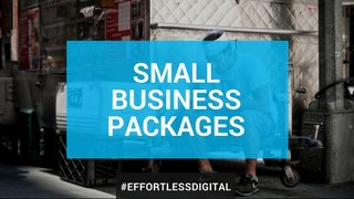 Small business owner taking a break using social media, click this photo to go to our small business package