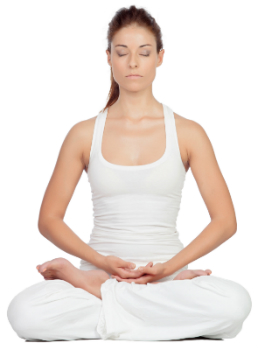 meditating woman for moving past divorce article