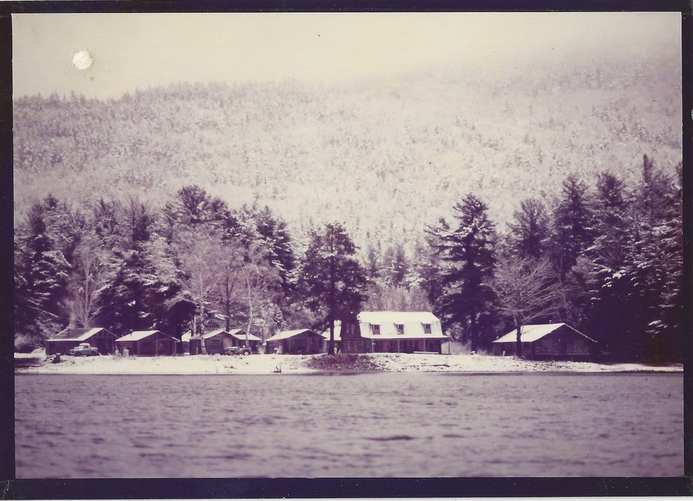 Hardscrabble Lodge, on the shore of Spencer Lake.