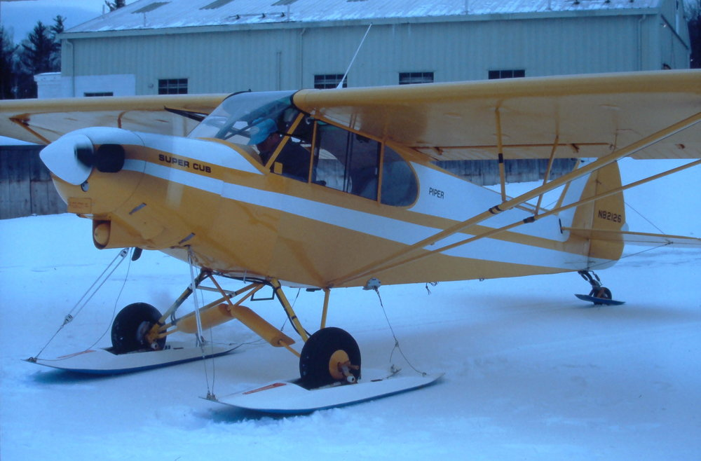 A MAINE WARDEN SUPER CUB ON FERNANDEZ SKIS