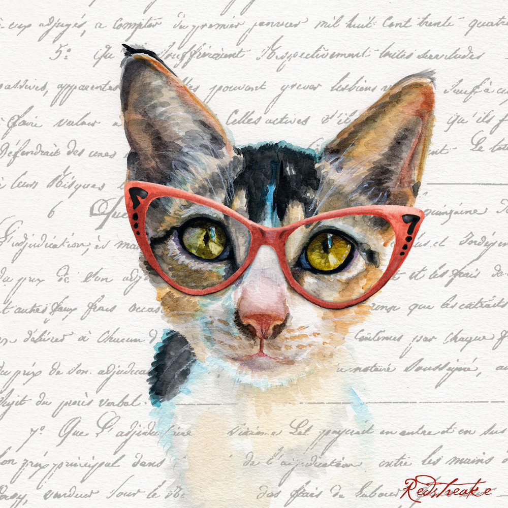 Red Cat Glasses