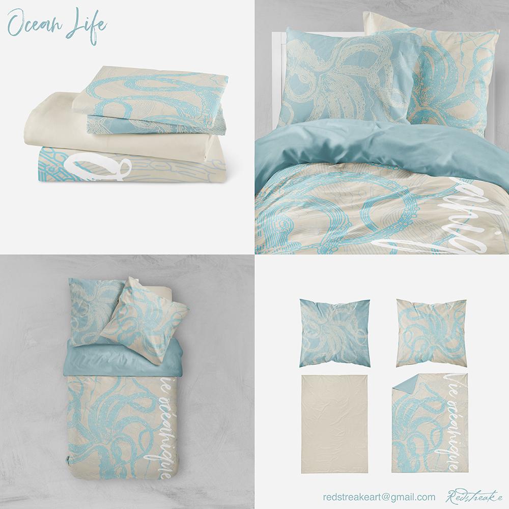 Ocean life bedding set