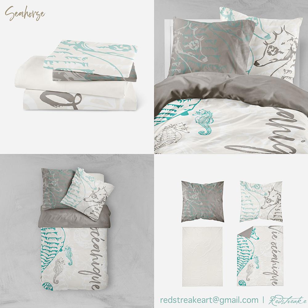 Seahorse bedding set