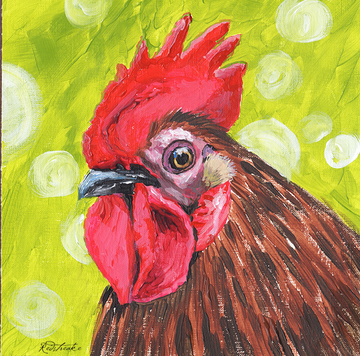 Rooster II - Acrylic on canvas