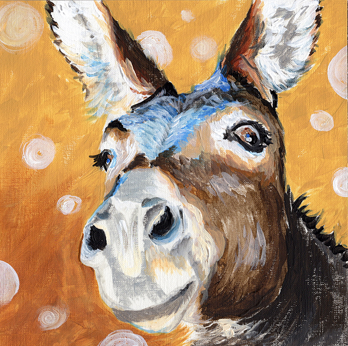 Donkey - Acrylic on canvas