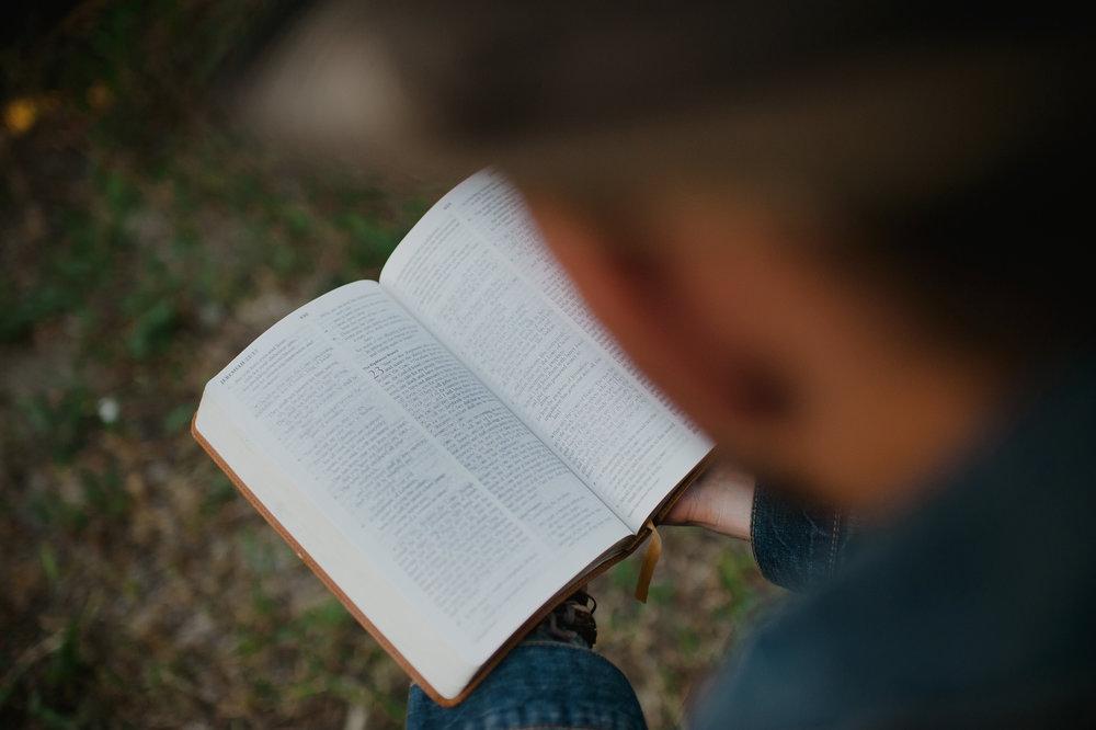 preacher reading bible
