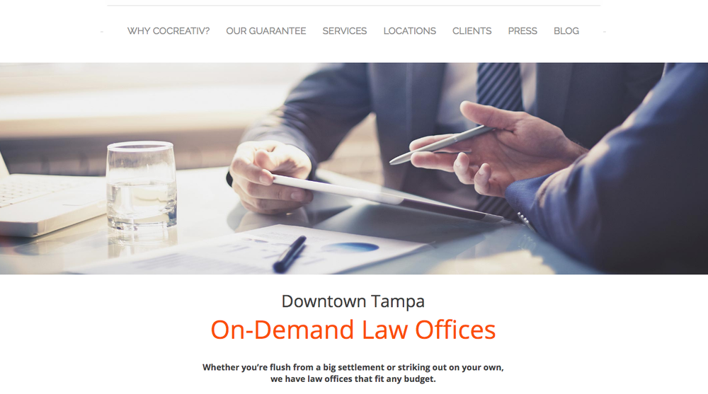 CoCreative Law Offices Landing Page