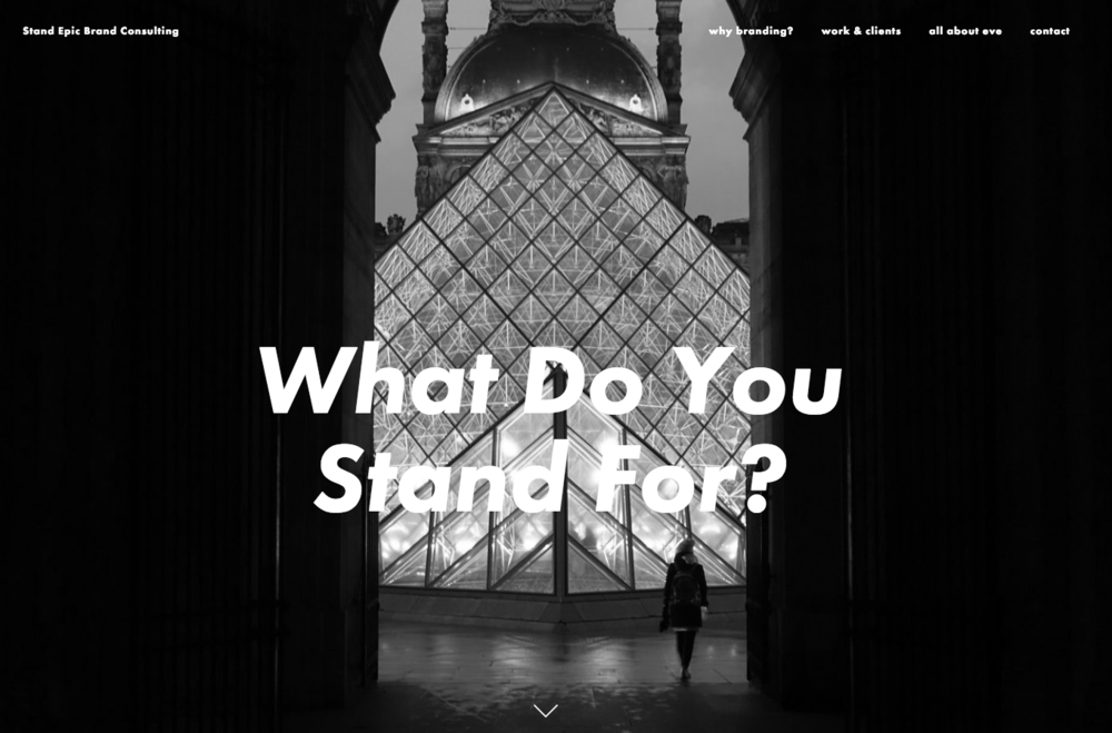 Image: The brand consulting agency Stand epic uses Squarespace.