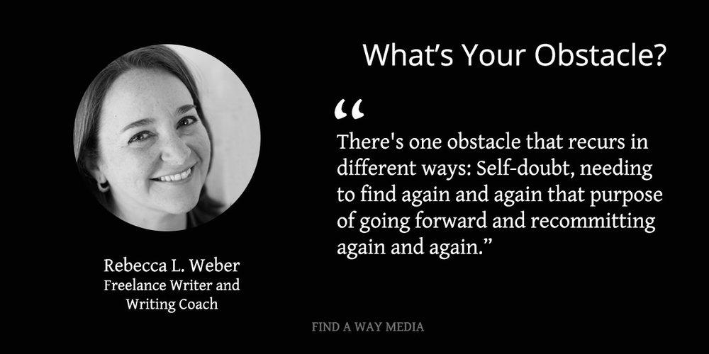 rebecca l weber writing coach find a way media