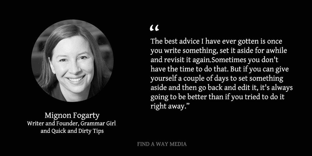 Mignon Fogarty Grammar Girl Find A Way Media