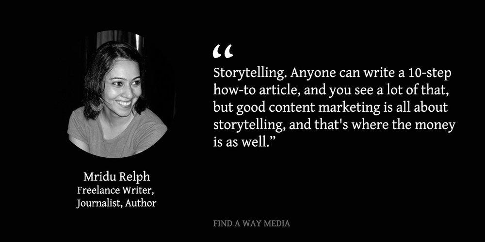 mridu relph journalist freelancer find a way media