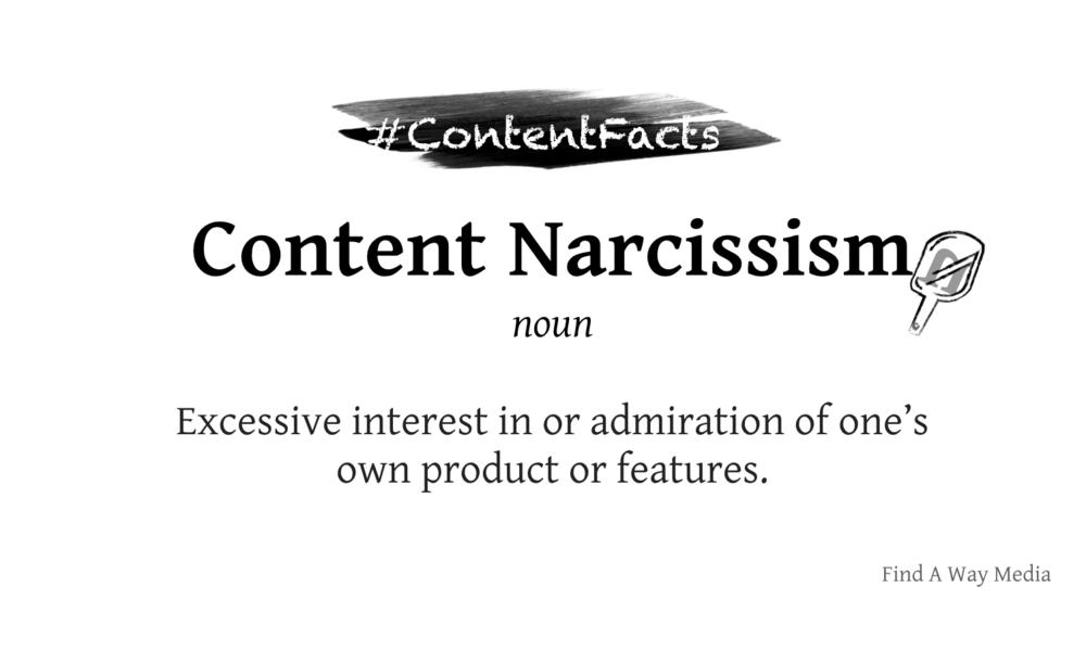 Content narcissism find a way media