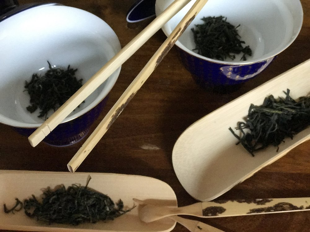 Green Mao Jian (Green Tip from Changde) and Xiang Ming (Honey Sweet Green from Yueyang)