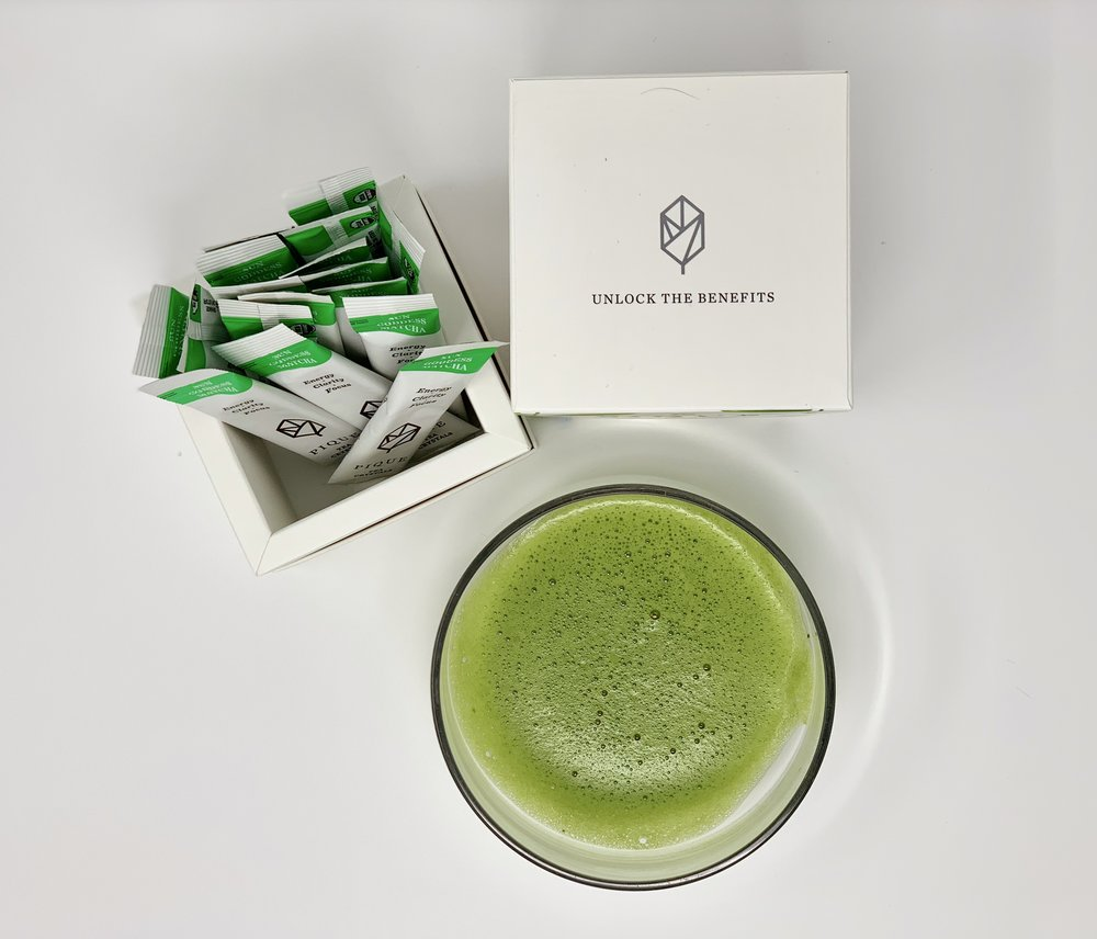 The packets of matcha