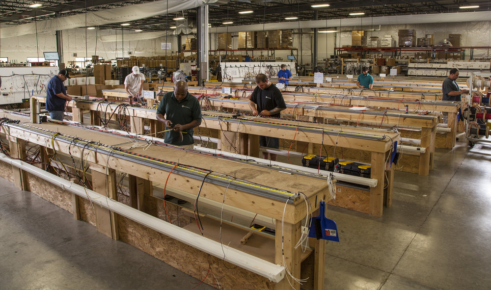 Our clean, spacious production area is large enough to accommodate even the largest harness builds.