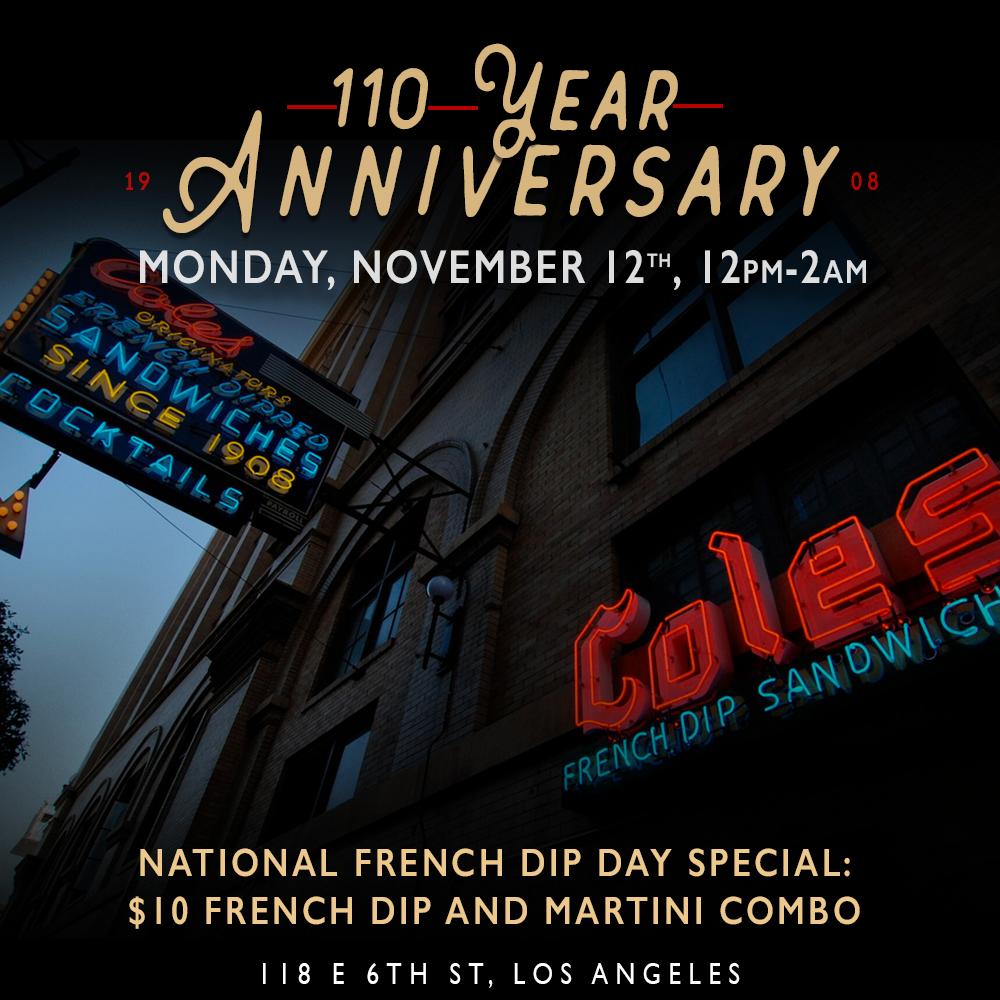 Cole's 110 Anniversary