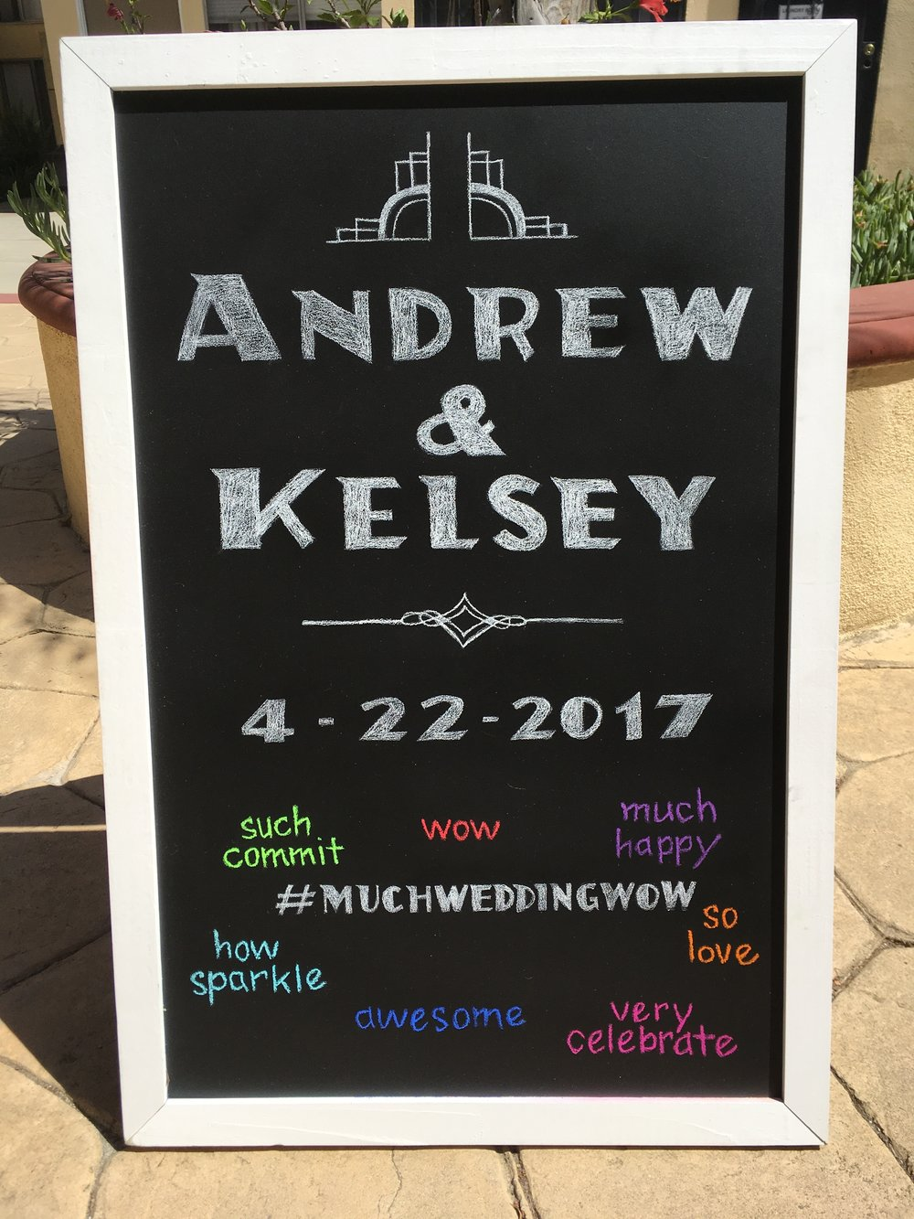 Chalk Wedding Sign