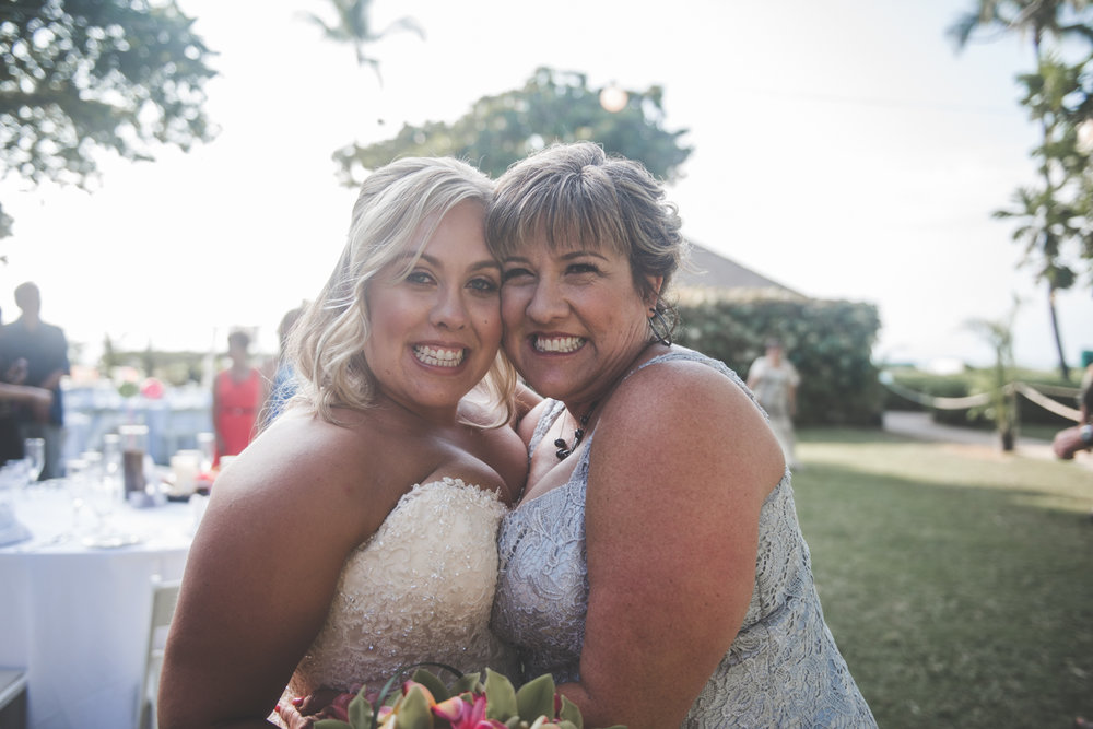 bride and mother of the bride portrait in maui
