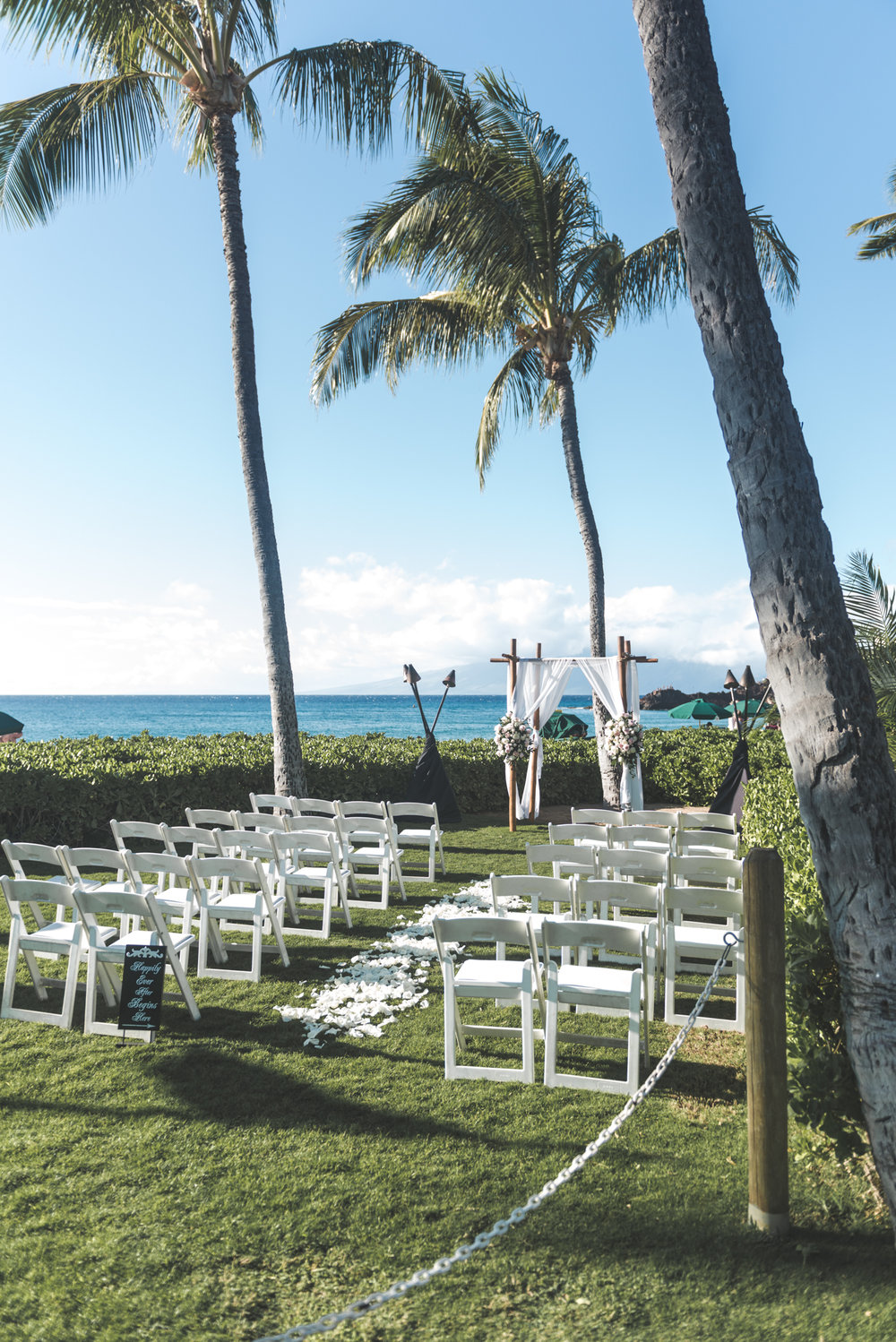 beautiful maui beachfront wedding location