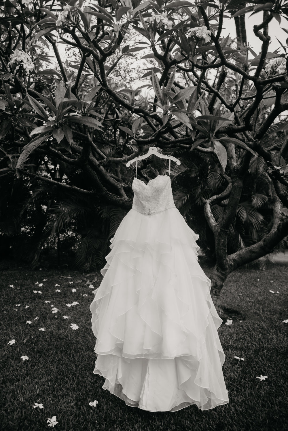 Maui wedding dress