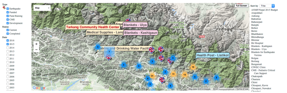 Click on the image to see our projects in Nepal.