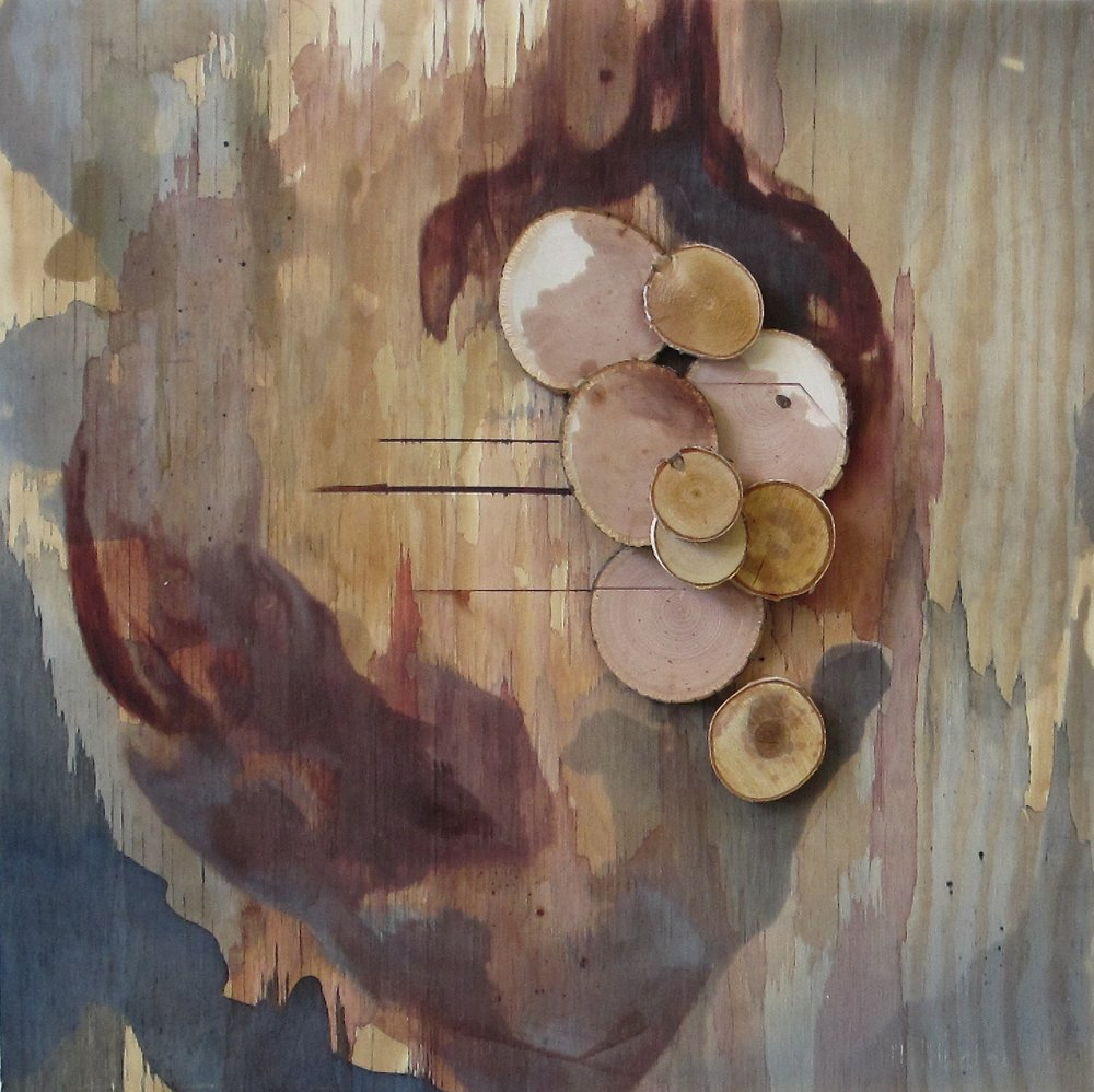 "Passion Pit Study III    acrylic, graphite, and wood on panel // 2015 // 24"" x 24"""
