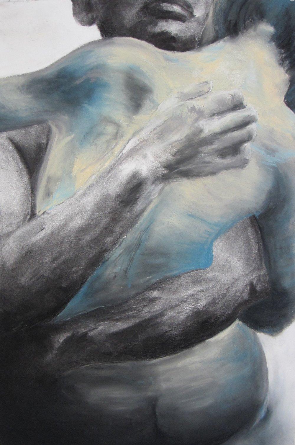 """2409 charcoal + chalk pastel // 2015 // 22.25"""" x 15"""""""