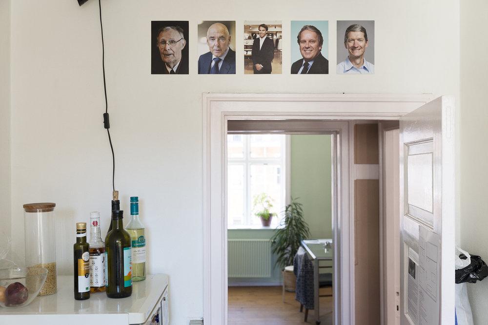 CEO (Ingvar Kamprad (IKEA), Peter Brabeck Lemanthe (néstle), Karl-Johan Persson (H&M), Ian M. Cook (Colgate Palmolive), Tim Cook (Apple)) (2017)inkjet print, 15x18cm, Moa Alskog