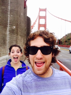 Us at the Golden Gate Bridge, San Francisco