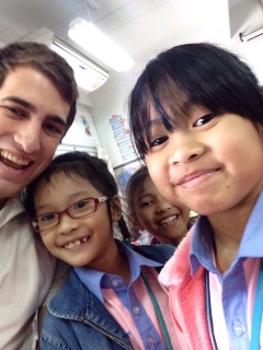 Matt and three of his favorite Thai students