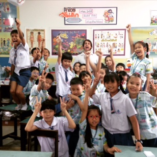 Matt and his class in Thailand!