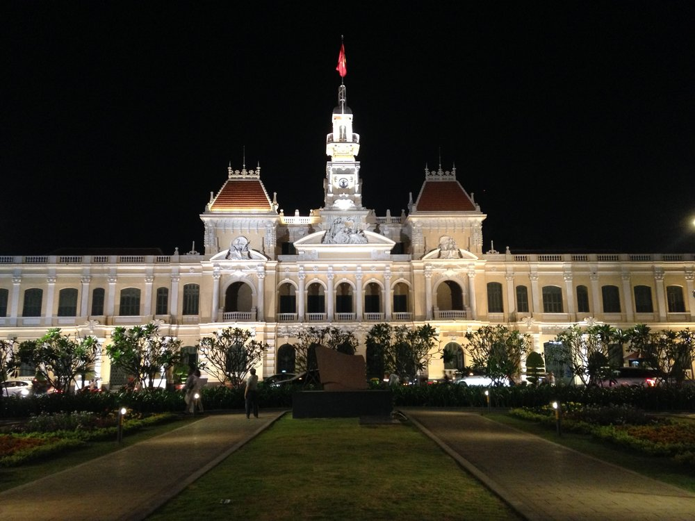 The center of Ho Chi Minh City, a seven minute walk from our apartment