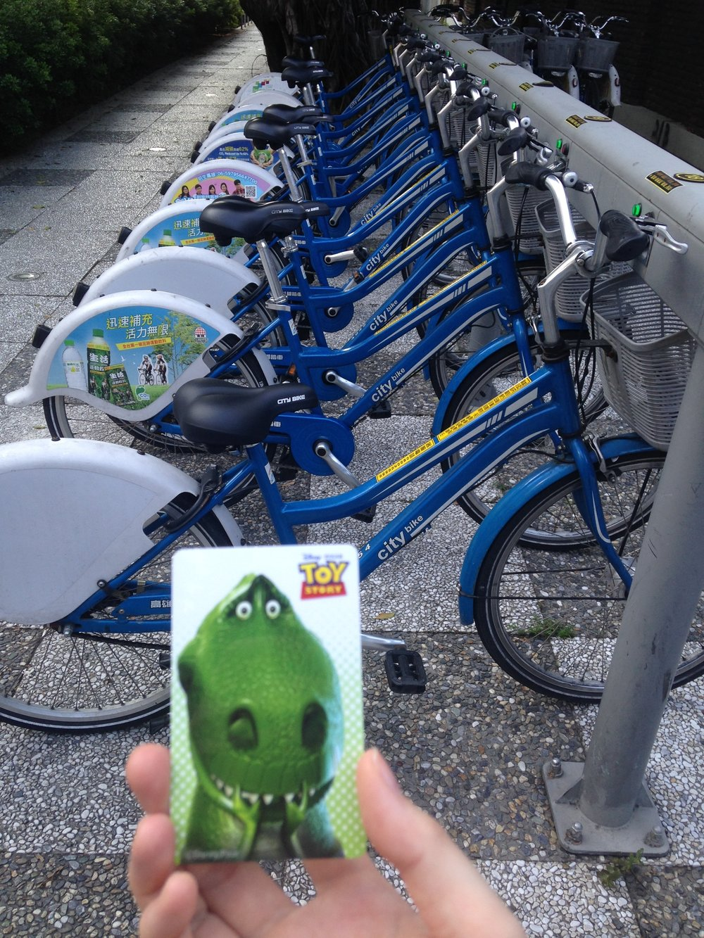 City bikes and a fun Toy Story-themed transport card