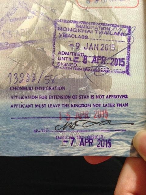Our denied visa extension