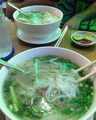 Our first pho in Vietnam