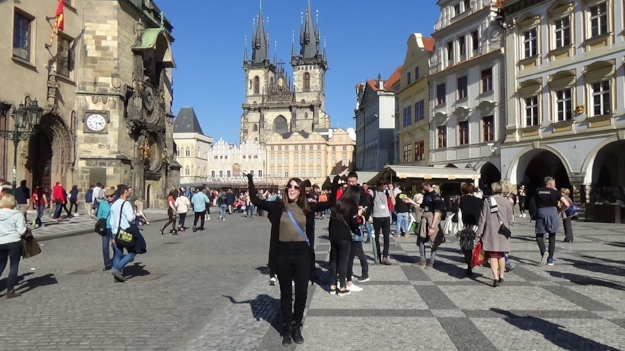 Me (Marilyn) in Old Town Square, Prague