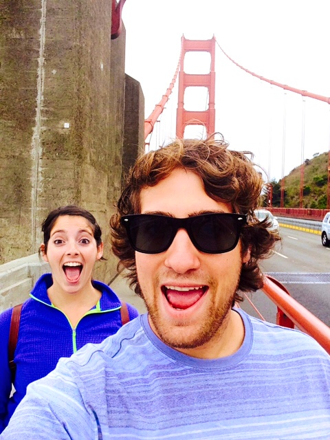 Us on the Golden Gate Bridge in San Francisco!